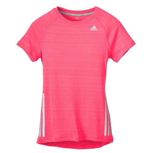 Womens adidas Supernova Short Sleeve Technical Tops - Neon Pink XL