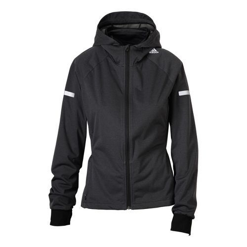 Womens adidas Sequencials Hooded Climaproof Running Jackets - Black M