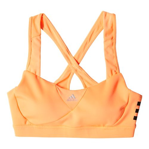 Womens adidas Supernova Racerback Sports Bra - Orange Burst L