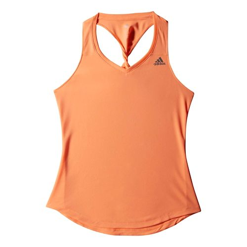 Womens adidas Sequencials Money Tank Technical Tops - Orange Burst XL