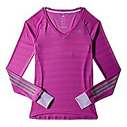 Womens adidas Supernova Tee Long Sleeve No Zip Technical Tops