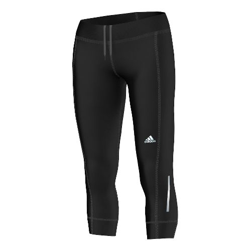 Womens adidas Sequencials 3/4 Capri Tights - Black L