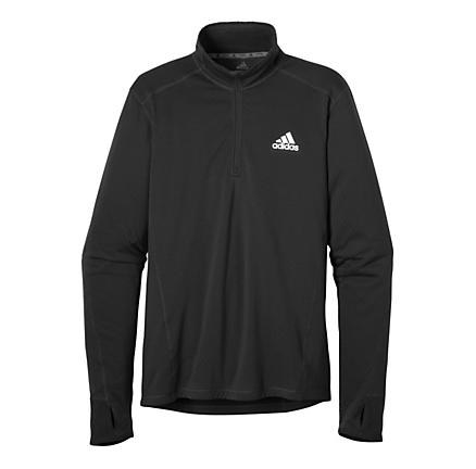 Mens adidas Sequencials Flagstaff Long Sleeve 1/2 Zip Technical Tops