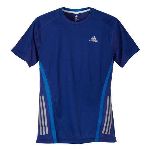 Mens adidas Supernova Short Sleeve Tee Technical Tops - Ink Blue/Blue L