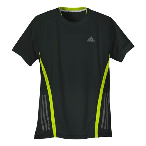 Mens adidas Supernova Short Sleeve Tee Technical Tops - Nightshade/Lemon S