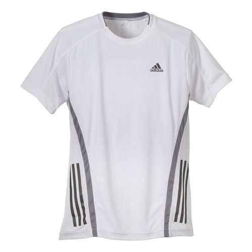 Mens adidas Supernova Short Sleeve Tee Technical Tops - White/Grey L