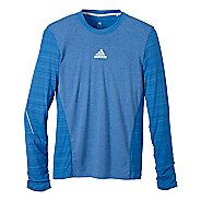Mens adidas Sequencials Heathered Tee Long Sleeve No Zip Technical Tops