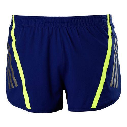 Mens adidas Supernova Split Shorts - Nightshade/Neon Green L