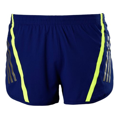 Mens adidas Supernova Split Shorts - Nightshade/Neon Green XL