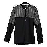 Mens adidas Supernova Storm Long Sleeve 1/2 Zip Technical Tops