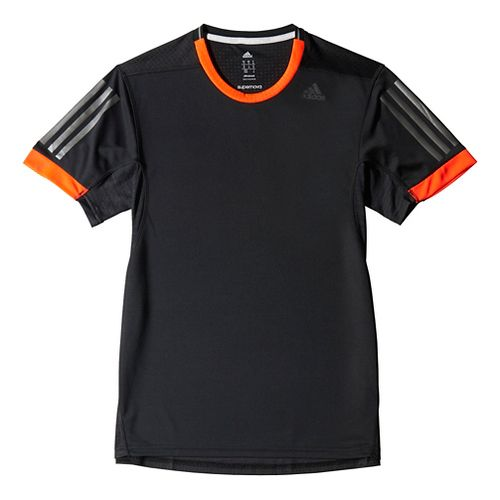 Mens adidas Supernova Tee Short Sleeve Technical Tops - Black/Red XL