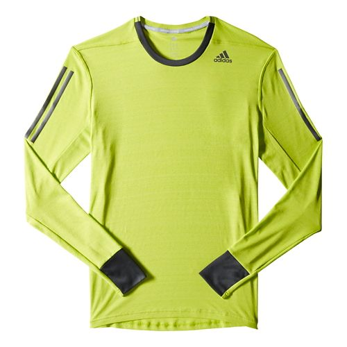 Mens adidas Supernova Tee Long Sleeve No Zip Technical Tops - Navy/Dark Grey S