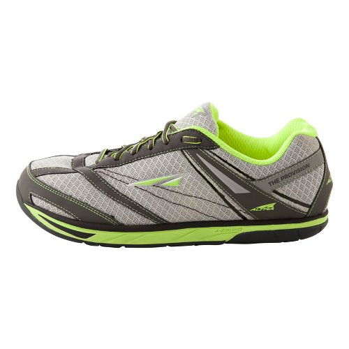 Mens Altra Provision Running Shoe - Grey/Lime 10.5