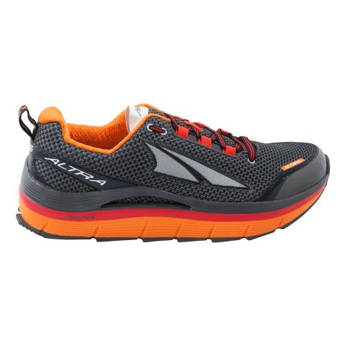 Mens Altra Olympus Trail Running Shoe - Charcoal/Orange 12.5