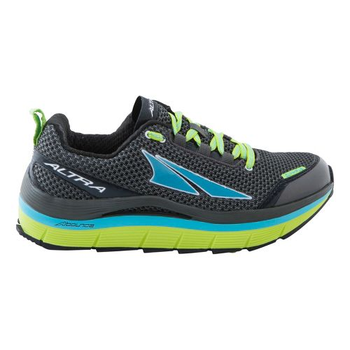 Womens Altra Olympus Trail Running Shoe - Charcoal/Lime 6.5
