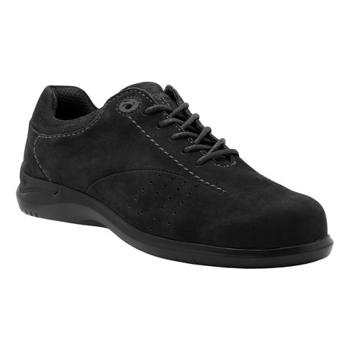 Womens Aravon Farren Casual Shoe - Black Nubuck 11