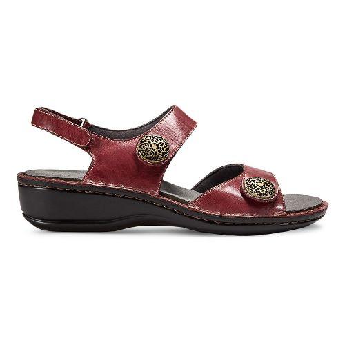 Womens Aravon Candace Sandals Shoe - Dark Red 8