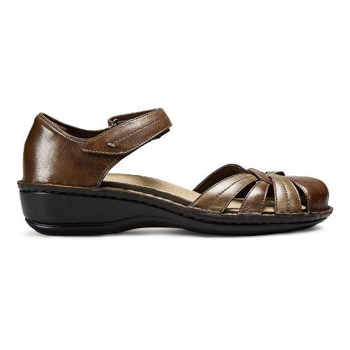 Womens Aravon Clarissa Sandals Shoe - Brown 6