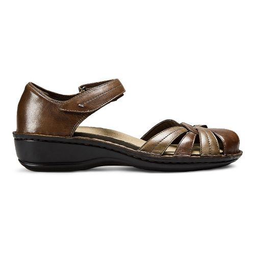 Womens Aravon Clarissa Sandals Shoe - Brown 6