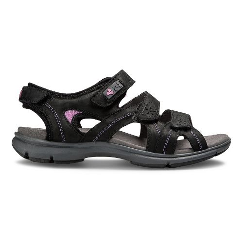 Womens Aravon REVsoleil Sandals Shoe - Black 8
