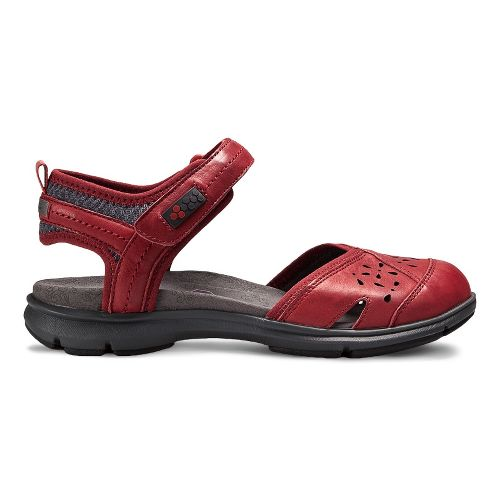 Womens Aravon REVswan Sandals Shoe - Red Burnished 8