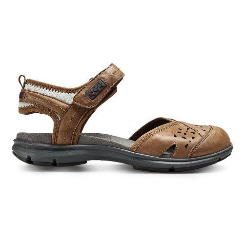 Womens Aravon REVswan Sandals Shoe - Tan Burnished 7