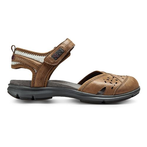 Womens Aravon REVswan Sandals Shoe - Tan Burnished 8