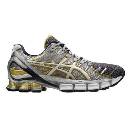Men's ASICS GEL-Kinsei 4 Running Shoe - Grey/Gold 10