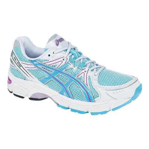 Kids ASICS GEL-1170 GS Running Shoe - White/Light Blue 7
