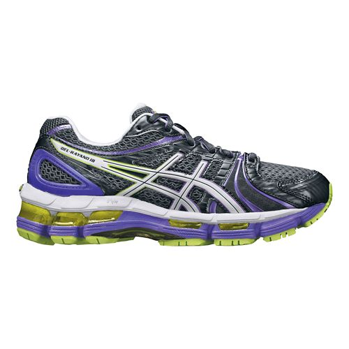 Womens ASICS GEL-Kayano 18 Running Shoe - Grey/Purple 9