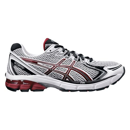 Mens ASICS GT-2170 Running Shoe - White/Red 11.5