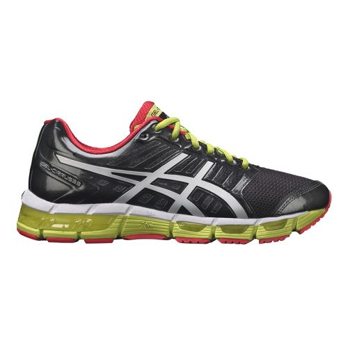 Mens ASICS GEL-Cirrus33 Running Shoe - Black/Lime 12.5