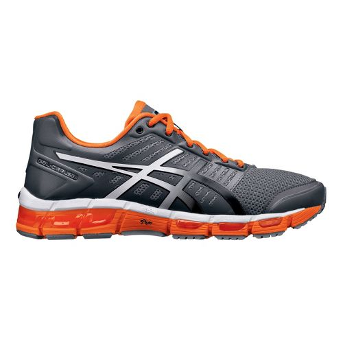 Mens ASICS GEL-Cirrus33 Running Shoe - Charcoal/Orange 14