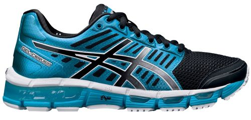 Womens ASICS GEL-Cirrus33 Running Shoe - Blue/Black 6