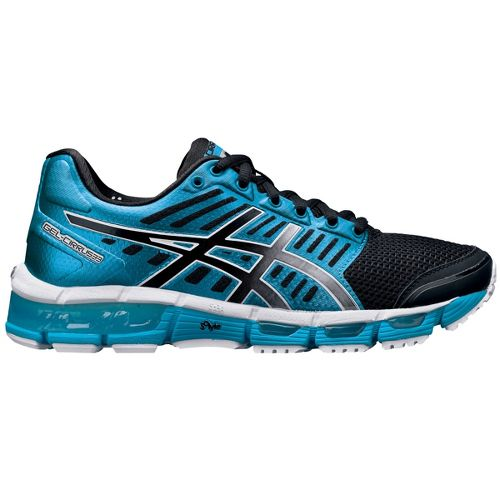 Womens ASICS GEL-Cirrus33 Running Shoe - Blue/Black 8.5