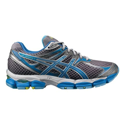 Womens ASICS GEL-Cumulus 14 Running Shoe - Charcoal/Blue 9.5