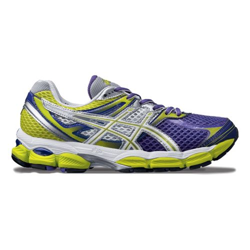 Womens ASICS GEL-Cumulus 14 Running Shoe - Purple/Lime 7.5