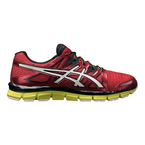 Mens ASICS GEL-Blur33 2.0 Running Shoe - Red/Lime 8.5