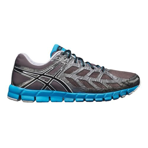Mens ASICS GEL-Lyte33 Running Shoe - Charcoal/Blue 14