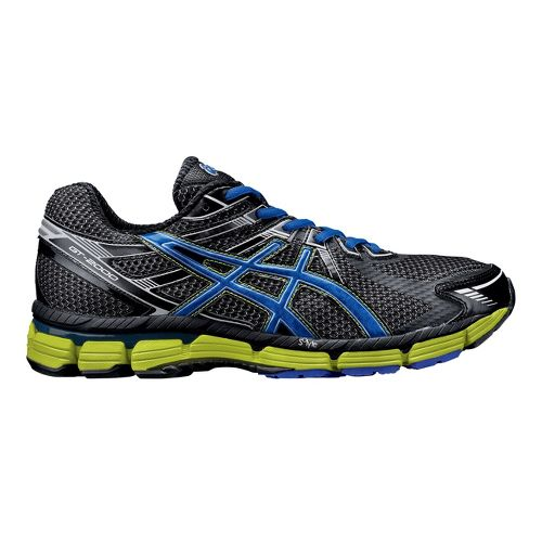 Mens ASICS GT-2000 Running Shoe - Black/Blue 14