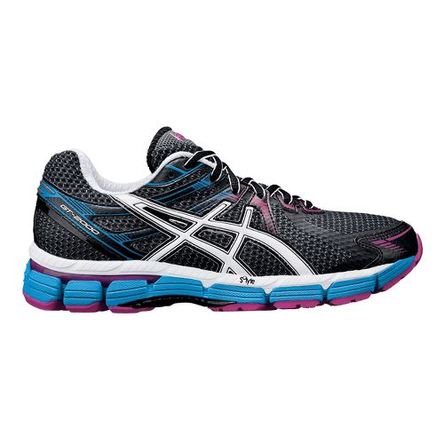 Womens ASICS GT-2000 Running Shoe - Black/Blue 8.5