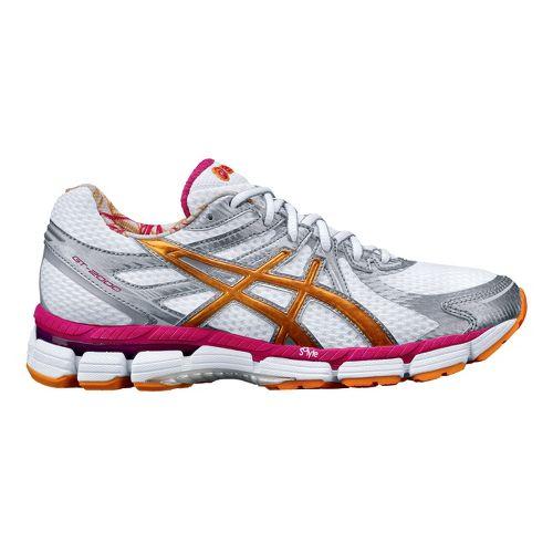 Womens ASICS GT-2000 Running Shoe - White/Orange 6.5