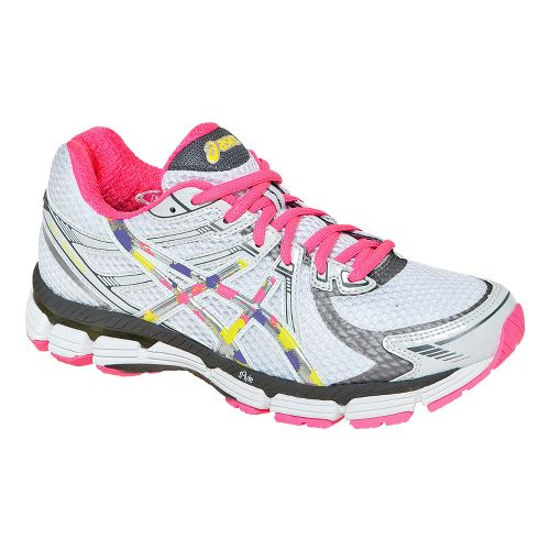 Womens ASICS GT-2000 Running Shoe - White/Pink 9