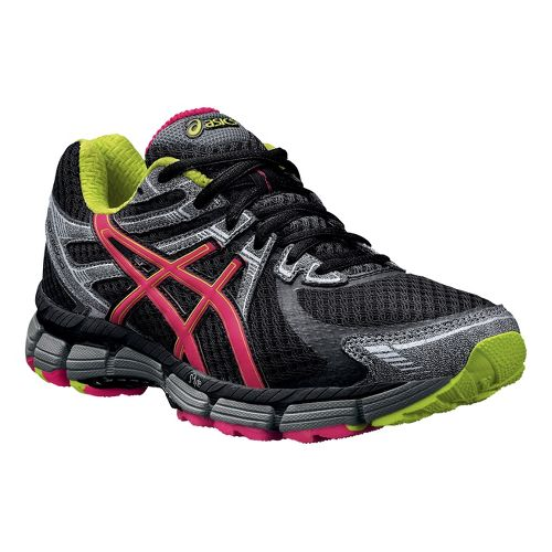 Womens ASICS GT-2000 Trail Running Shoe - Black/Raspberry 6.5