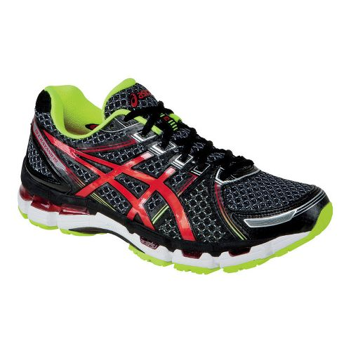 Mens ASICS GEL-Kayano 19 Running Shoe - Black/Red 6.5