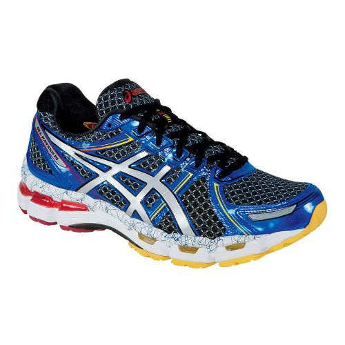 Mens ASICS GEL-Kayano 19 Running Shoe - Blue/Silver 16