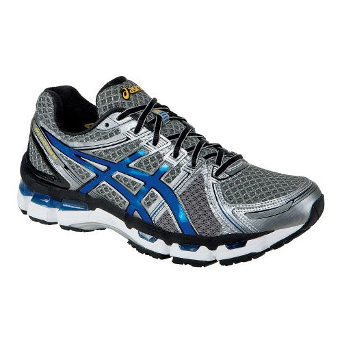 Mens ASICS GEL-Kayano 19 Running Shoe - Titanium/Royal 8