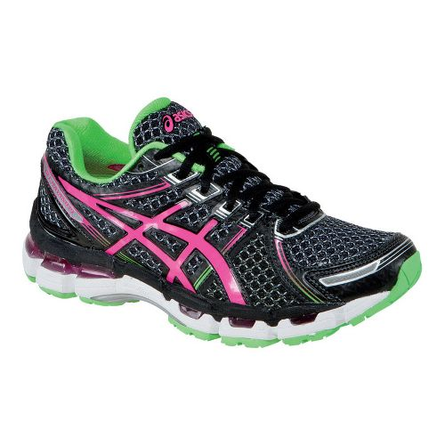 Womens ASICS GEL-Kayano 19 Running Shoe - Black/Pink 10.5