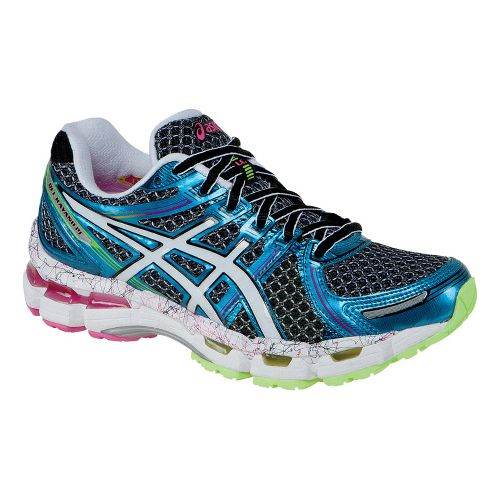 Womens ASICS GEL-Kayano 19 Running Shoe - Blue/White 5