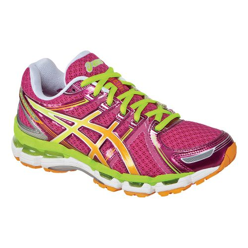 Womens ASICS GEL-Kayano 19 Running Shoe - Raspberry/Lime 9.5